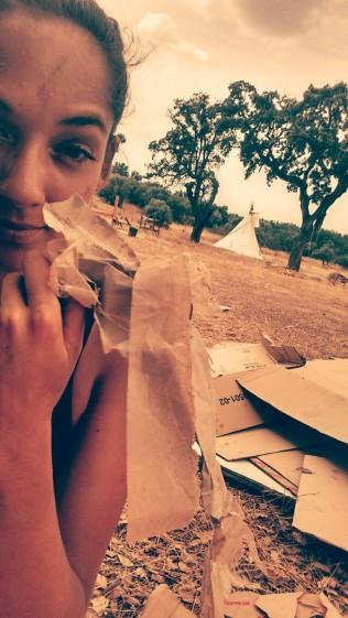 Cardboard for mulching